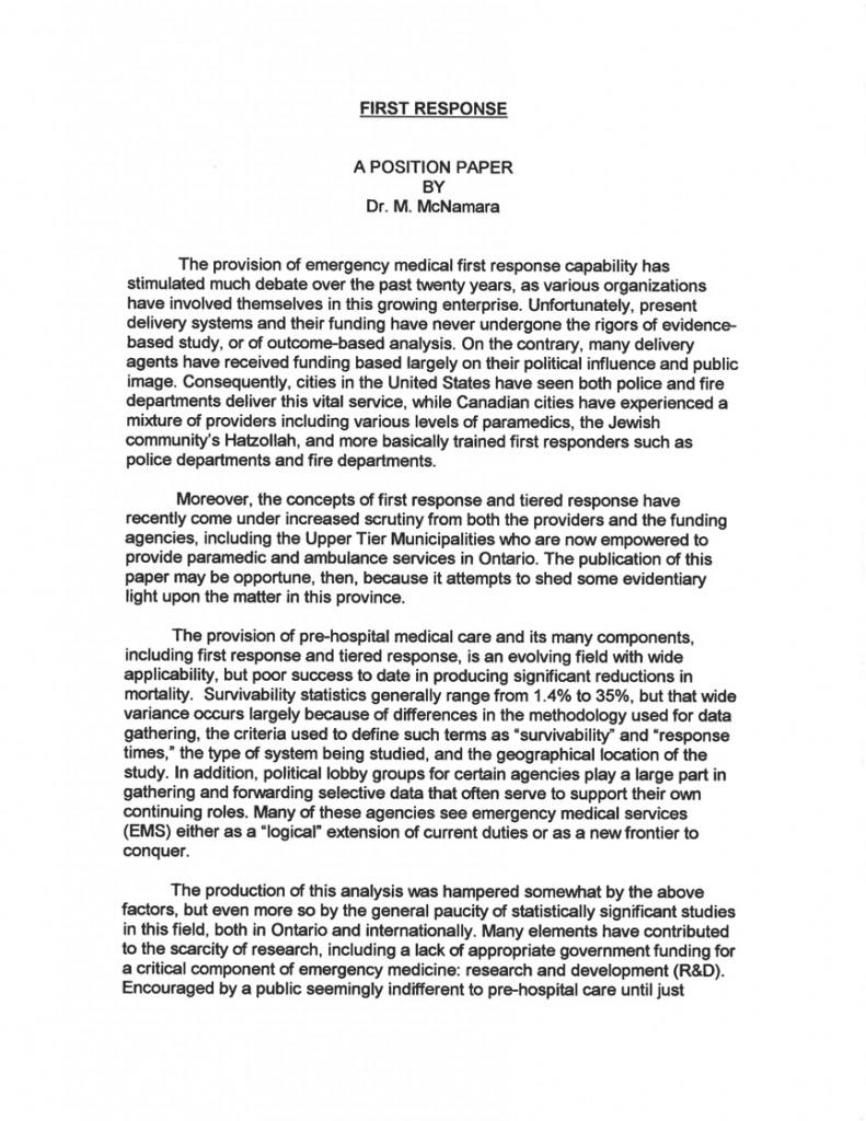 First Response by Martin McNamara01