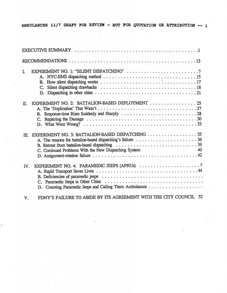 The Bennett Report on the FDNY-EMS Merger (Unreleased)01