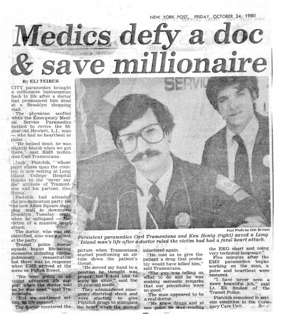 1980 Tramontana and Honig Save Jack Pintchik
