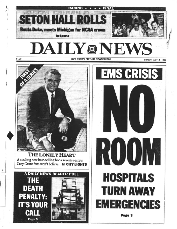 EMS Crisis at ERs Apr 2 1989