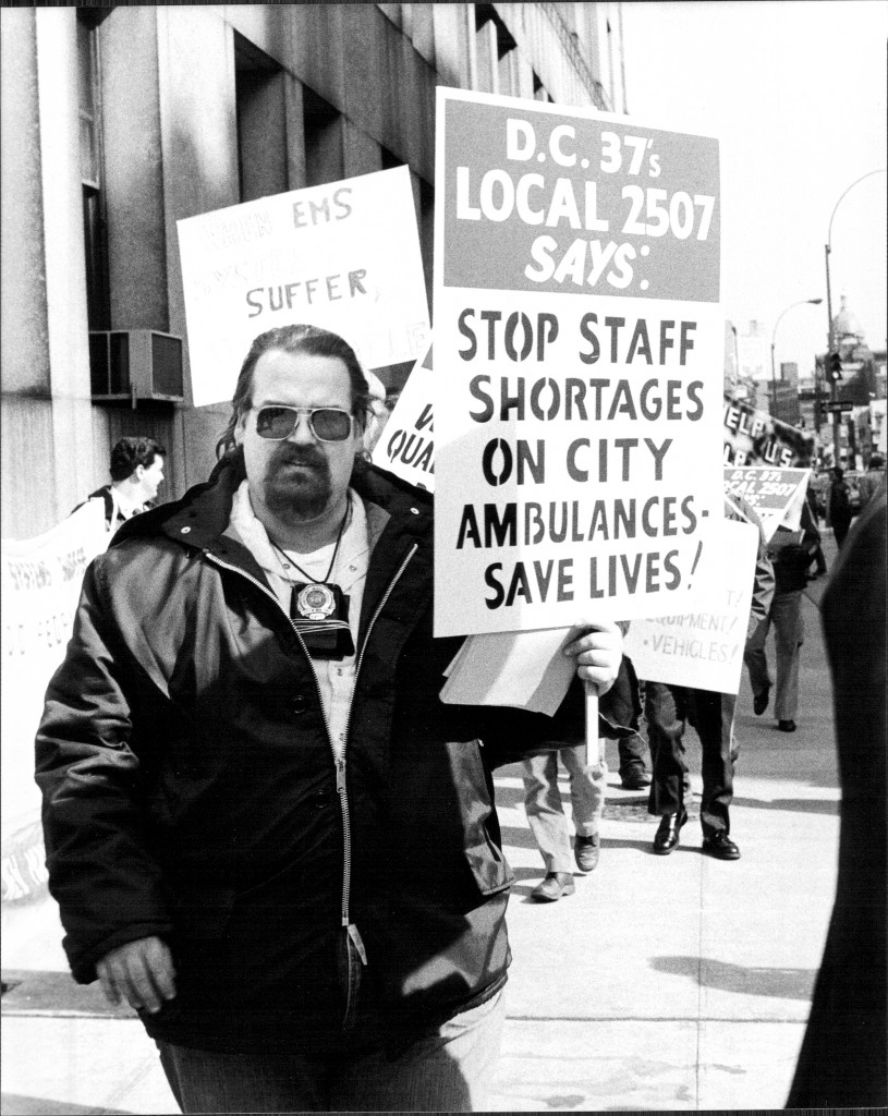 EMS Workers Picket HHC 1987